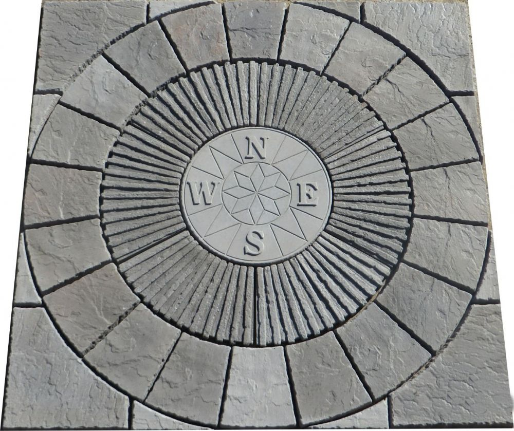 1800mm Rotunda Compass Slate Grey Plus Infill Slate Grey